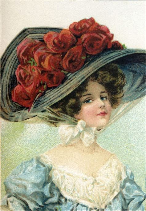 victorian hat lady image  graphics fairy