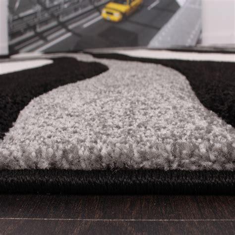 bettumrandung teppich bettumrandung l 228 ufer teppich trendig modern grau schwarz
