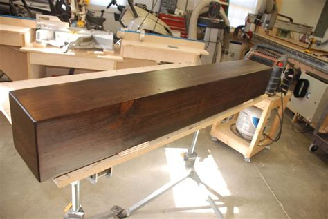 wood beam shelves build a rustic faux beam mantel or shelf