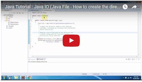 tutorial java creator java ee java tutorial java io java file how to