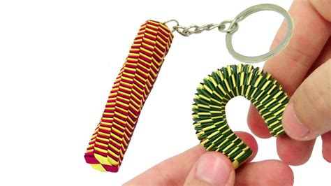 How To Make Paper Keychains - origami slinky anti stress paper keychain lizard