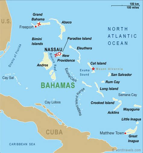 bahamas on map bahamas map bahamas travel maps from word travels