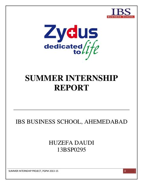 Cox Enterprise Mba Internships by Summer Internship Report At Zydus Wellness