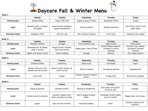 sle daycare menu madrat co