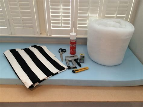 how to make a seat cushion for a bench diy no sew bay window seat cushion