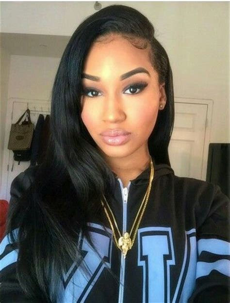 Weave Hairstyles Going To The Side | side part curly hair all about quot weaves quot pinterest