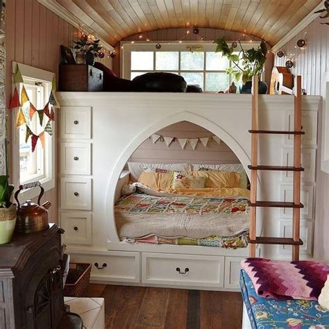tiny house bed ideas family converts school bus into beautiful cottage on