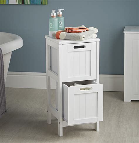 shaker style 2 drawer storage unit bathroom storage