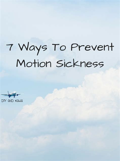 Ways To Prevent Motion Sickness the 25 best motion sickness ideas on