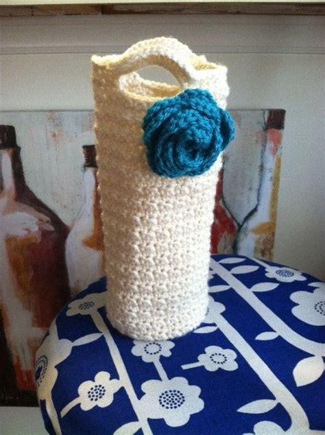crochet pattern wine bottle bag let s party crochet wine bottle tote crochet