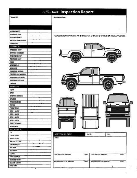 vehicle report diagram truck inspection diagram marycath info