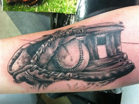 baseball tattoos baseball glove by jon highland tattoonow