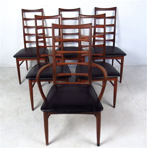 Dining Room Set With Ladder Back Chairs Set Of Ladder Back Dining Chairs By Koefoeds Hornslet For