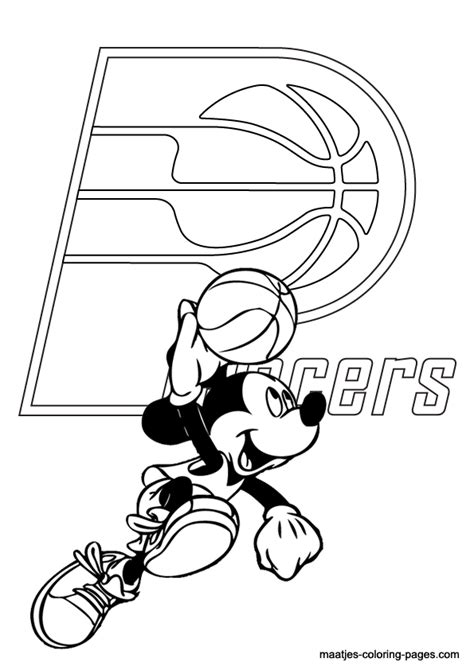 indiana basketball coloring pages indiana pacers and mickey mouse coloring pages