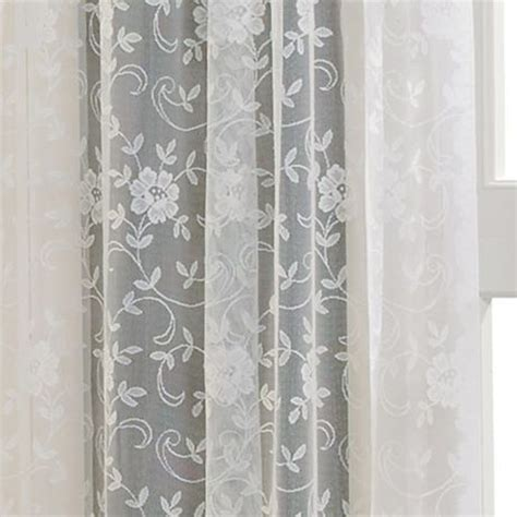 Shari Lace Curtains Home Shari Lace Rod Pocket Sheer Panel Curtains Home And Curtain Panels