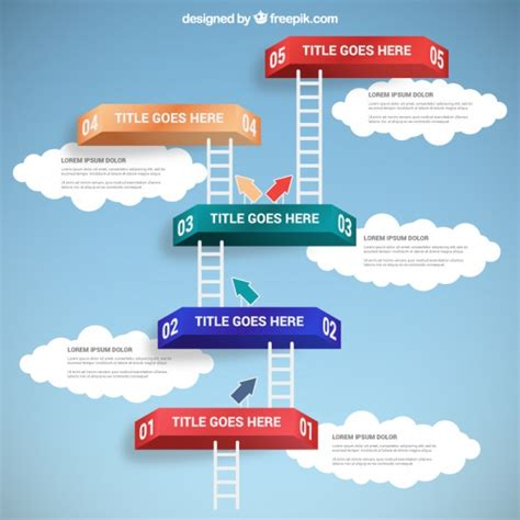 freepik com ladders infographic vector free download