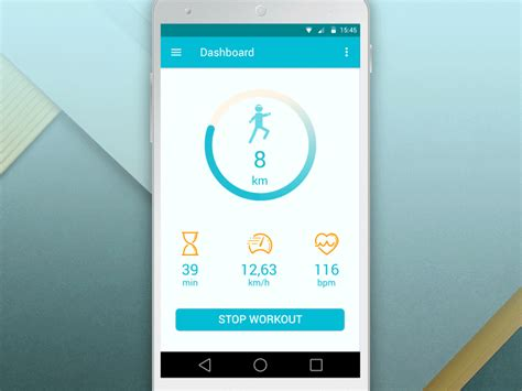 fitness tracker app for android fitness tracker app material design concept