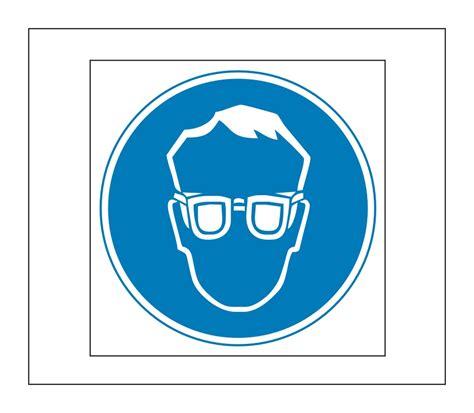 Gefahren Aufkleber by Hinweis Schild Gefahrenaufkleber Schutzbrillen