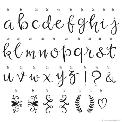 font lettere additional symbol set for lightbox by the house