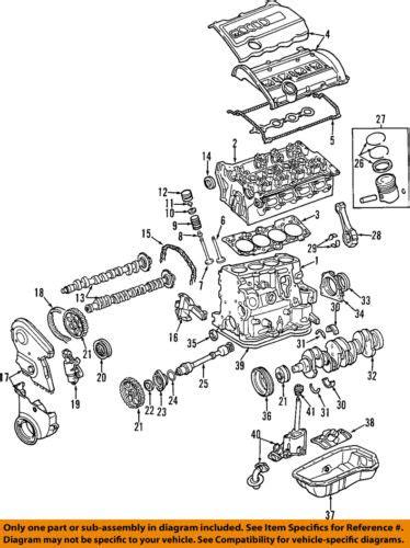 Audi 02 05 A4 Quattro Engine Valve Cover 058103721d Ebay