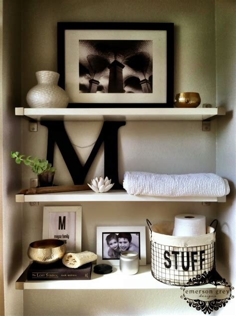 decorating ideas for bathroom shelves 20 cool bathroom decor ideas 15 diy crafts ideas magazine