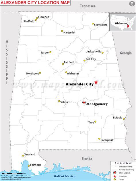 alexander city located  alabama usa