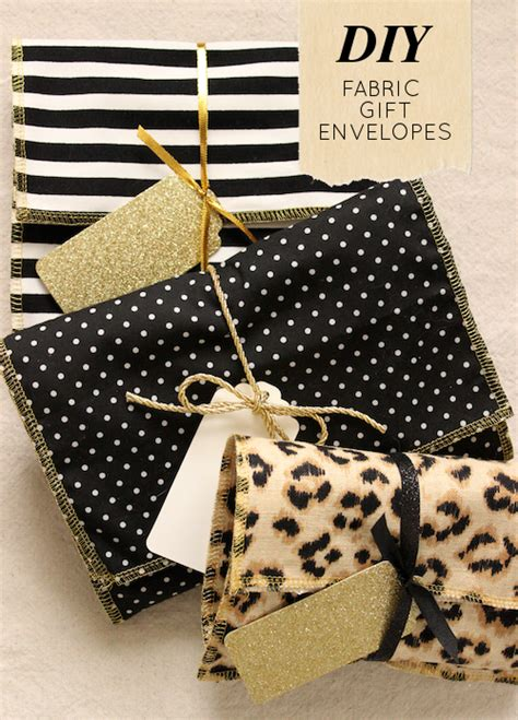 diy project fabric gift envelopes design sponge