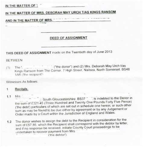 Mortgage Assignment Letter Assignment Of Mortgage Template Assignment Report Sle Assignment 1 Site Visit Report 4 638