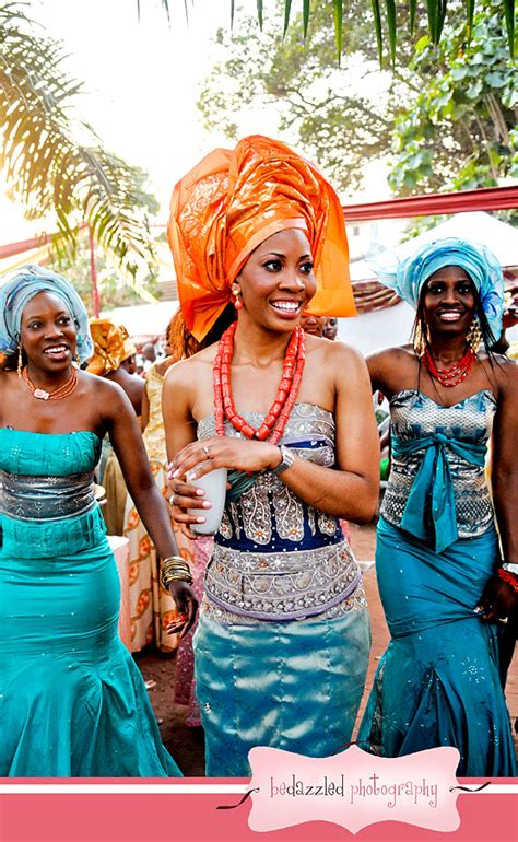 Igbo Traditional Wedding | color schemes bridesmaid dresses traditional dresses