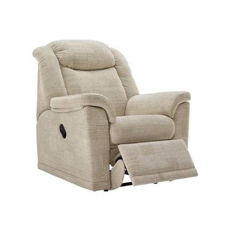 fabric electric recliner chairs g plan milton electric recliner in fabric at smiths the