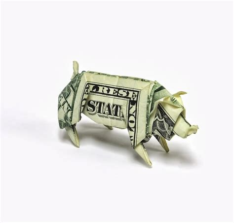 Origami Out Of Money - intricate origami designs made out of money