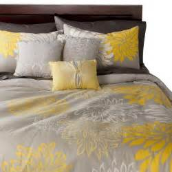 yellow duvet cover sets anya 6 floral print duvet cover set gray yellow