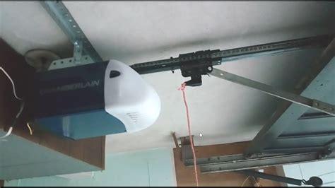 Garage Door Opener How To Shorten And Cut The Rail In A Garage Door Chain Track