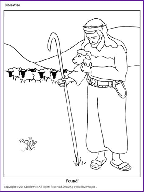 coloring page the lost sheep coloring parable of the lost sheep kids korner biblewise