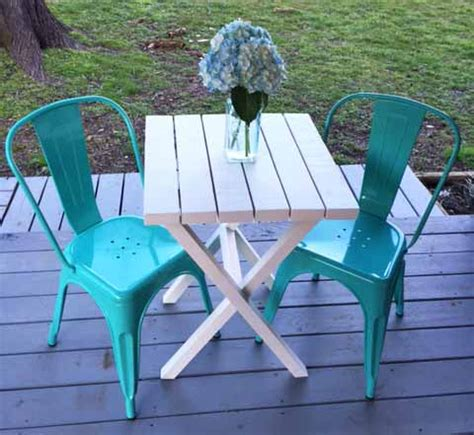Diy Outdoor Bistro Table Bistro Table Building Plans For Only 15