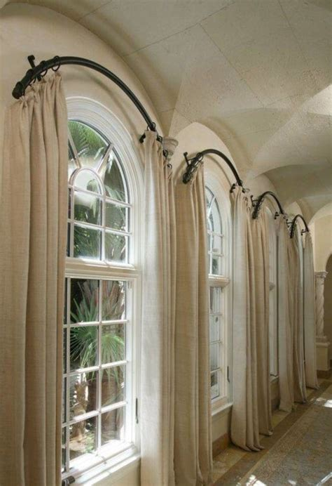 round half l shades furniture big curtain for arch window combined fur rug