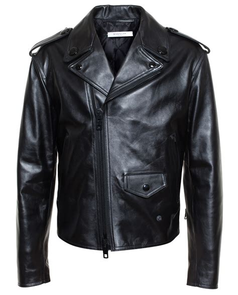 givenchy leather jacket givenchy leather biker jacket in black lyst