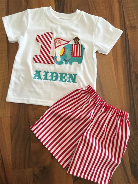 circus themed birthday outfit circus theme carnival birthday boy outfit shorts and shirt