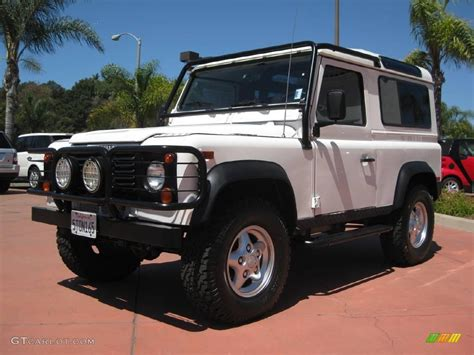 white land rover defender 90 1997 alpine white land rover defender 90 top