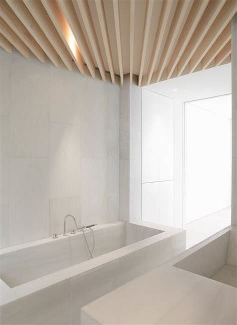 bathroom wood ceiling ideas details photo credit orfila flat bathroom