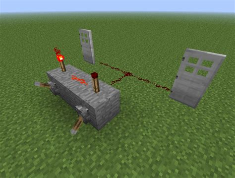 Redstone Doors by Minecraft Redstone Door Lock Memory Cell Arqade