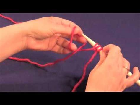 backward loop cast on method for knitting the backward loop cast on