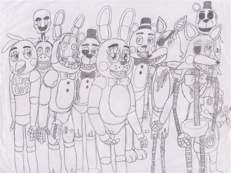 Marionette Fnaf Coloring Pages
