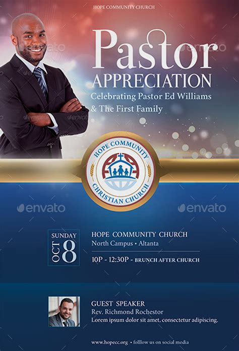 free pastor anniversary program templates pastor appreciation flyer templates inspiks market