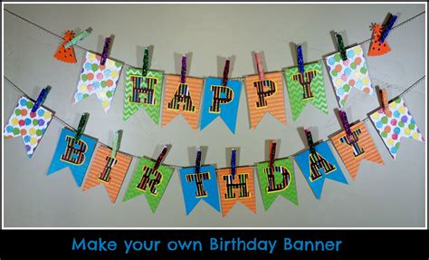 How To Make A Happy Birthday Banner Of Paper - make your own birthday pennant banner a sparkle of genius