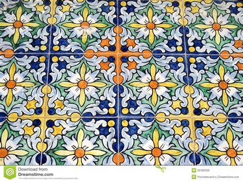 Mediterranean Floor Plans With Courtyard old typical spanish tiles stock photo image 26482330