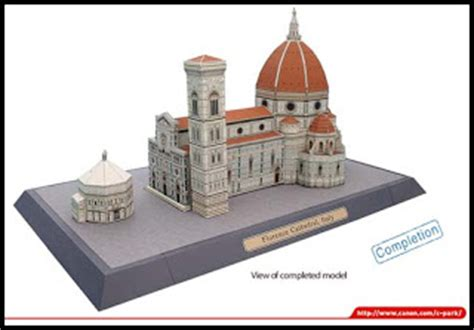 Creative Park Canon Papercraft - canon papercraft florence cathedral paperkraft net