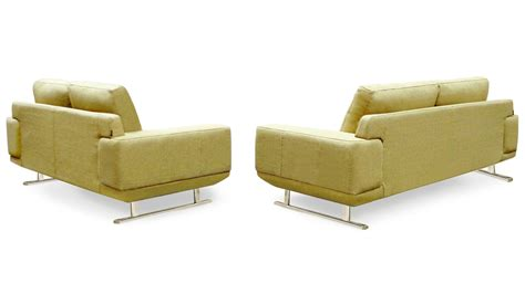 chartreuse sofa modern chartreuse fabric della sofa and loveseat set