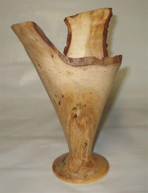 Turning A Vase On A Lathe by Woodturning Birch Vase