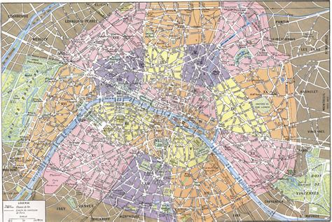 printable paris road map arrondissements de paris map paris france mappery